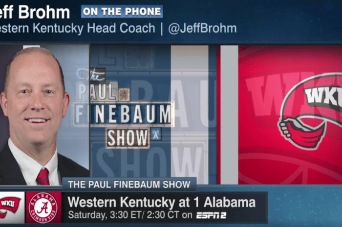 Western Kentucky coach talks about taking their shot at Alabama