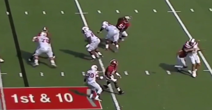 Tim Williams body slams Western Kentucky quarterback