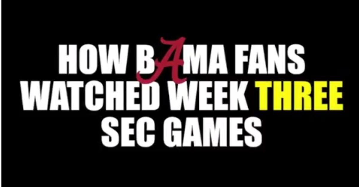 Comedian perfectly nails what it was like for Alabama fans to watch week three in the SEC