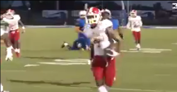 This punt returner shows us why you never showboat before actually scoring