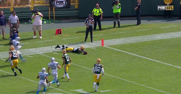 Packers wideout cheated the system and nabbed an extra 38 yards on a kickof