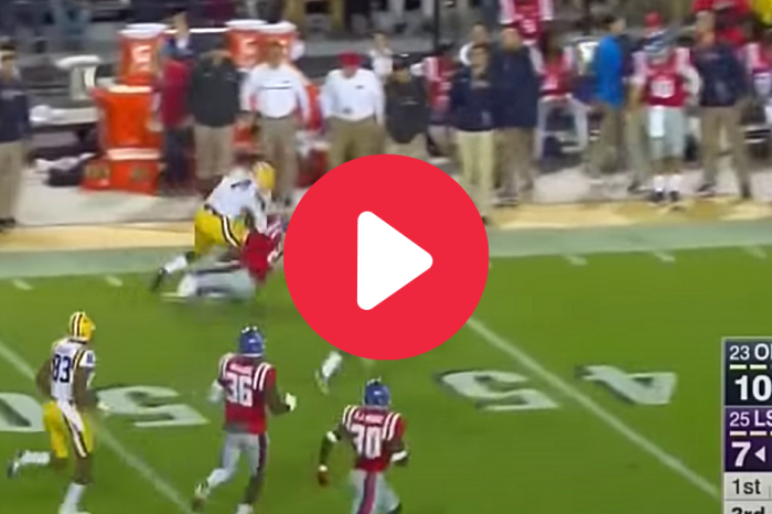 Leonard Fournette Bulldozed an Ole Miss Safety Into Earth's Crust