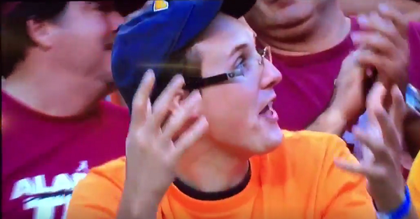 Angry Tennessee fan mouths an F-bomb on live TV