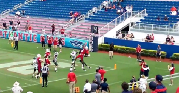 FAU celebrates game-winning Hail Mary…until it was overturned