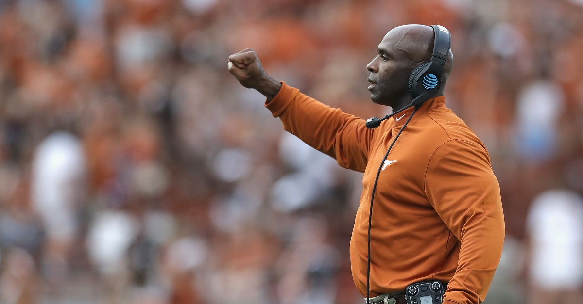 Texas apparently just made things even more awkward with Charlie Strong