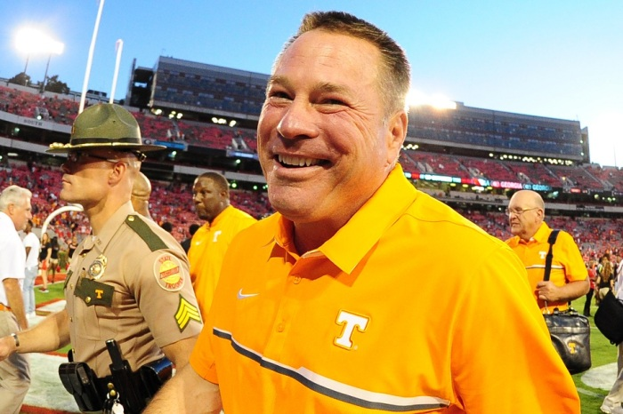 Butch Jones reveals original call for last play of the game against Georgia