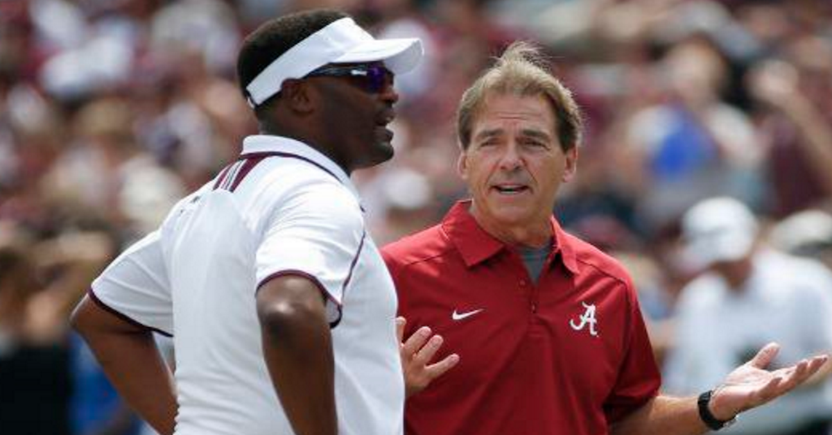 Nick Saban lavishes praise on Aggies ahead of Saturday matchup