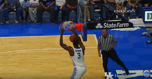 We've got our first look at Kentucky's super star team this year in exhibition blowout