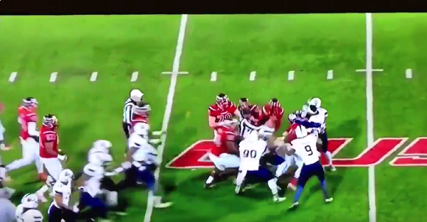 Watch as benches clear in massive brawl between Old Dominion and WKU