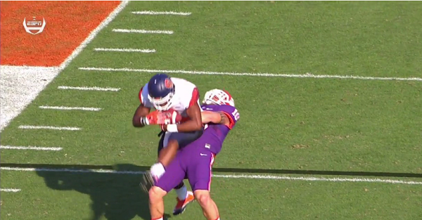 Clemson player suplexed a guy, and it was totally worth the penalty