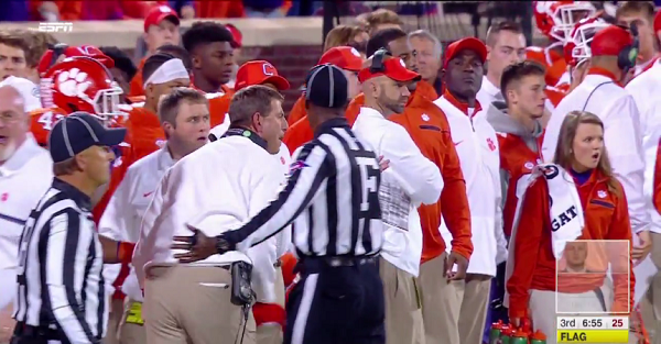 Dabo almost destroyed the refs for one of the worst calls of the year