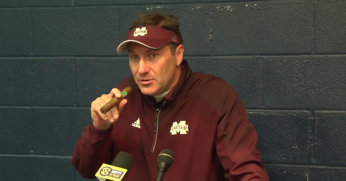 Dan Mullen gives the greatest response when asked about his star QB