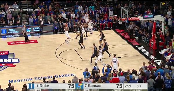 Kansas upsets top-ranked Duke thanks to epic game-winner