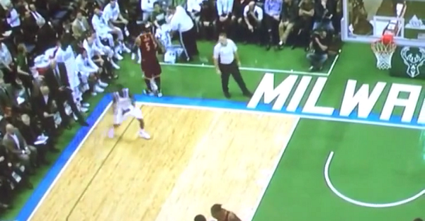 J.R. Smith went to dap up Jason Terry and forgot there was a game going on