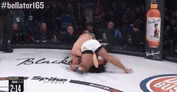 MMA fighter lands one of the best suplexes you'll ever see