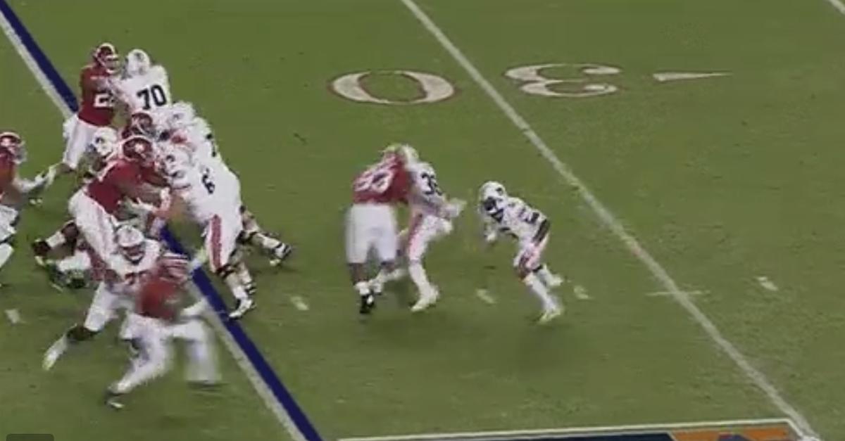 Watch Jonathan Allen eat Auburn running back alive