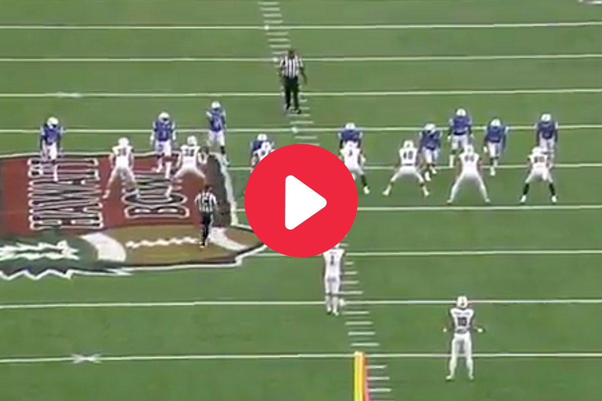 Creative Trick Play Snaps Ball Over Punter's Head on Purpose