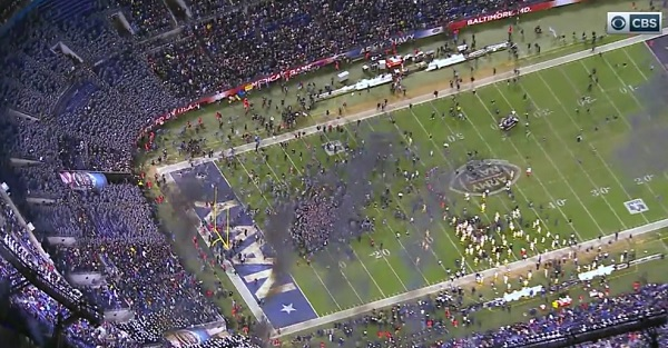 Army cadets storm the field after beating Navy for the first time since 2001