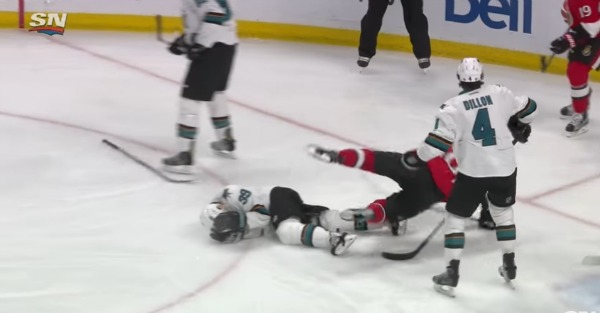 "Hockey has its share of hard hits, but does this classify as an ""assault?"""