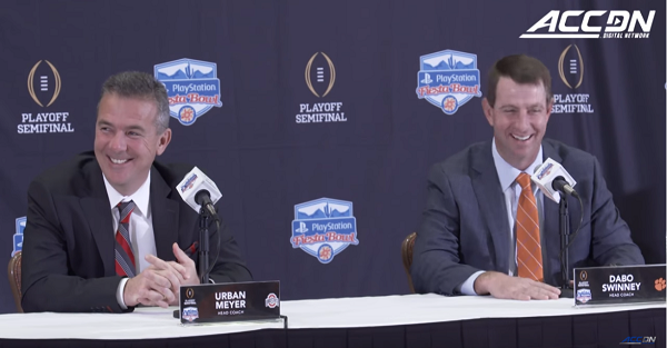 Dabo Swinney jokingly reveals Urban Meyer's secret to winning so many games
