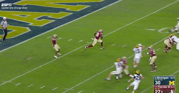 Here's the insane kick return that led to Florida State's game-winning TD