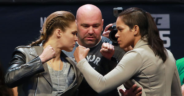 Here's what Amanda Nunes said to Ronda Rousey after her upset victory
