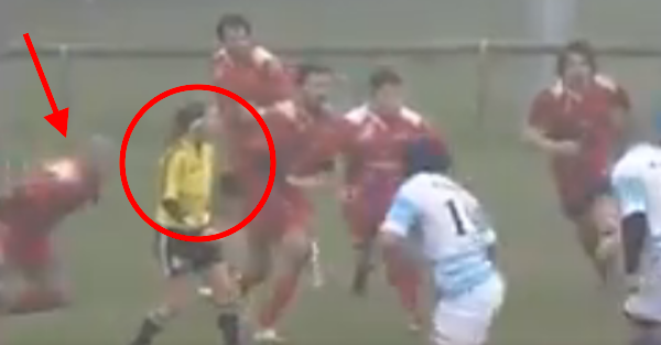 Rugby Player Spears Female Referee for No Good Reason