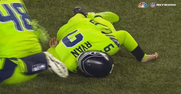Seahawks punter that got knocked out Thursday had to be taken to the hospital