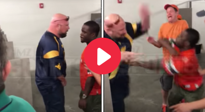 Man Threatens to Pee on Rival Fan, Gets Punched in the Face