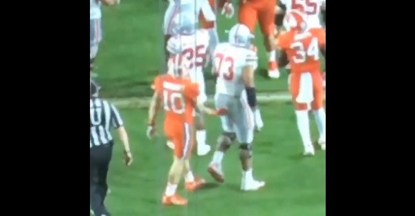 Ohio State player surprisingly responds to Clemson groping incident