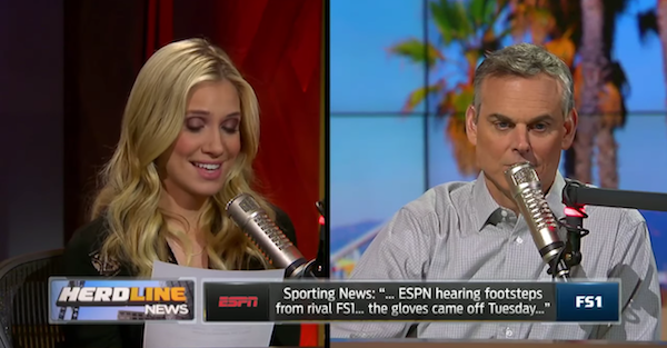 Colin Cowherd fires back at ESPN after blatant shots at FOX Sports 1