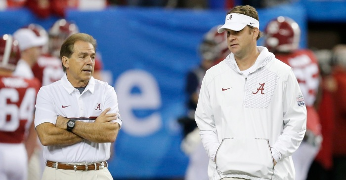 Lane Kiffin had some pointed reactions to Nick Saban losing yet another offensive coordinator