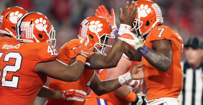 Clemson player apologizes for awkward nether region grab against Ohio State