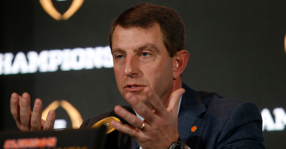 Dabo Swinney comments on potential transfer rule changes