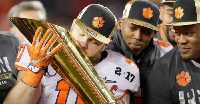 Ben Boulware might have had the most NSFW trophy celebration of the night
