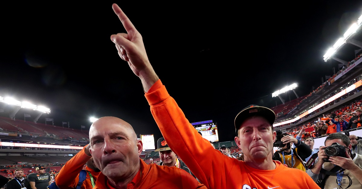 Clemson staff got some ridiculous bonuses for winning the title