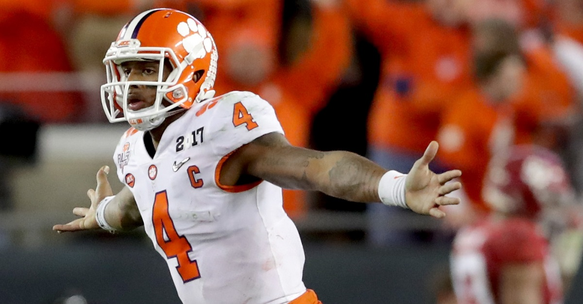 "Defending champion Clemson Tigers name ""clear number one"" to replace Deshaun Watson"