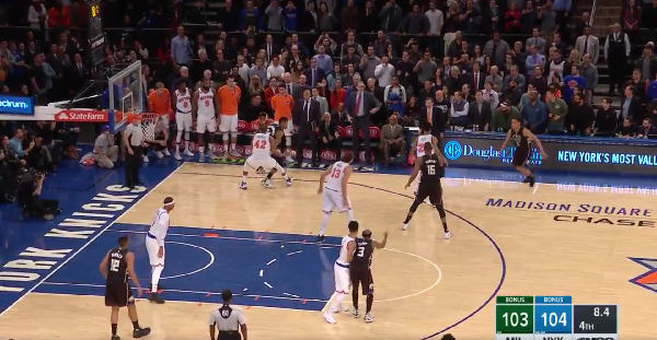 Giannis Antetokounmpo sinks a clutch game-winner to down the Knicks