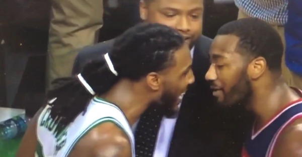 Jae Crowder stuck his finger in John Wall's face, and that was a mistake because Wall slapped him
