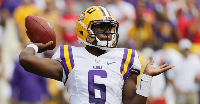 "Transferring LSU QB Brandon Harris reportedly has ""mutual interest"" with at least one school"