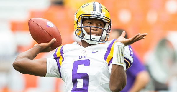 LSU QB Brandon Harris has officially signed with his new school
