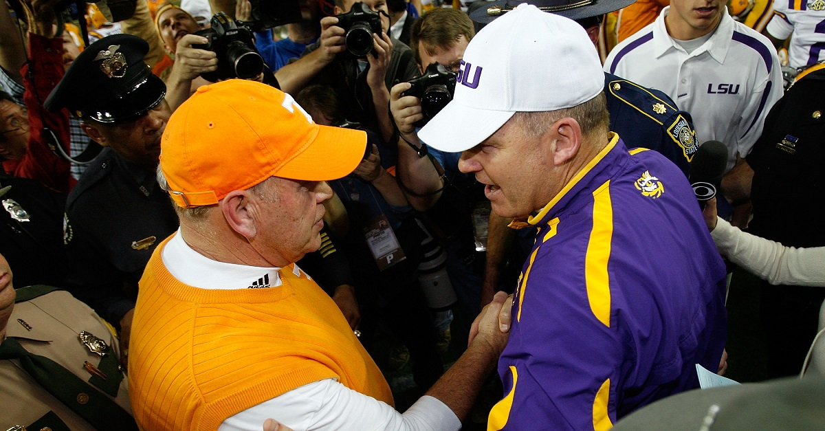 Les Miles acknowledges report that he's been targeted for Tennessee's coaching vacancy