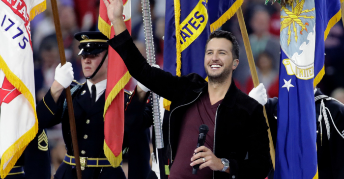 Luke Bryan Absolutely Crushed the National Anthem at the Super Bowl