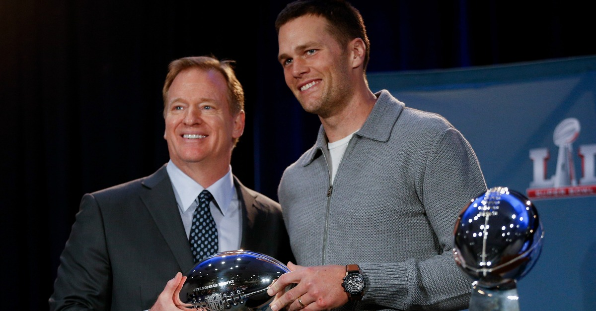 """Tom Brady after Super Bowl interaction with Roger Goodell: """"I'm not going to give away my power"""""""