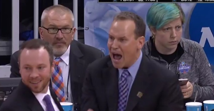Coach absolutely freaks out during tourney game, potentially costs his team crucial points