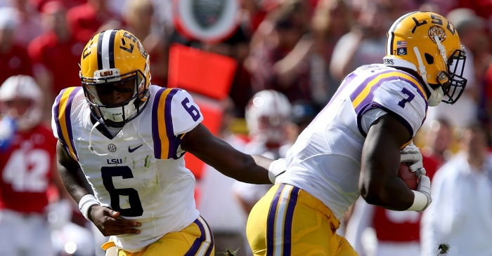 Former LSU QB Brandon Harris calls out Leonard Fournette's critics ahead of Combine
