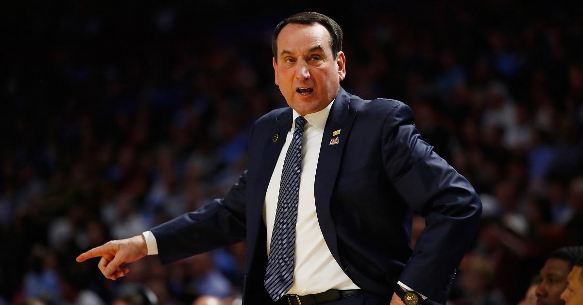 Coach K had a classy response after Duke's loss to South Carolina