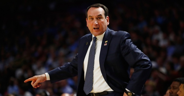 Coach K had a classy response after Duke's loss to South Carolina
