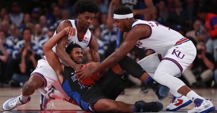 Former five-star PF and Kansas forward eliminates two schools from transfer contention