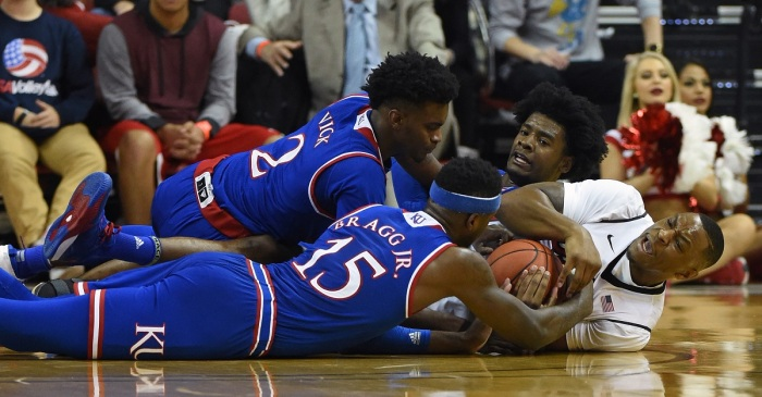 Former five-star recruit and Kansas forward has five schools on transfer list